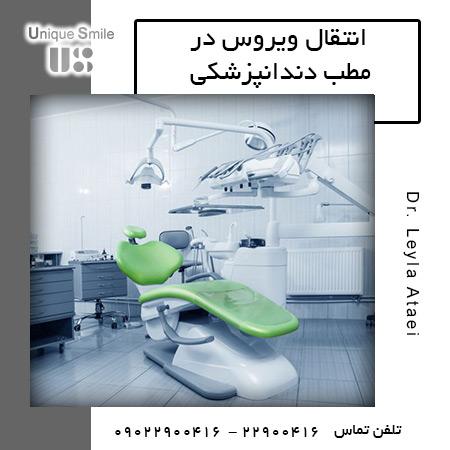 انتقال ویروس در مطب دندانپزشکی